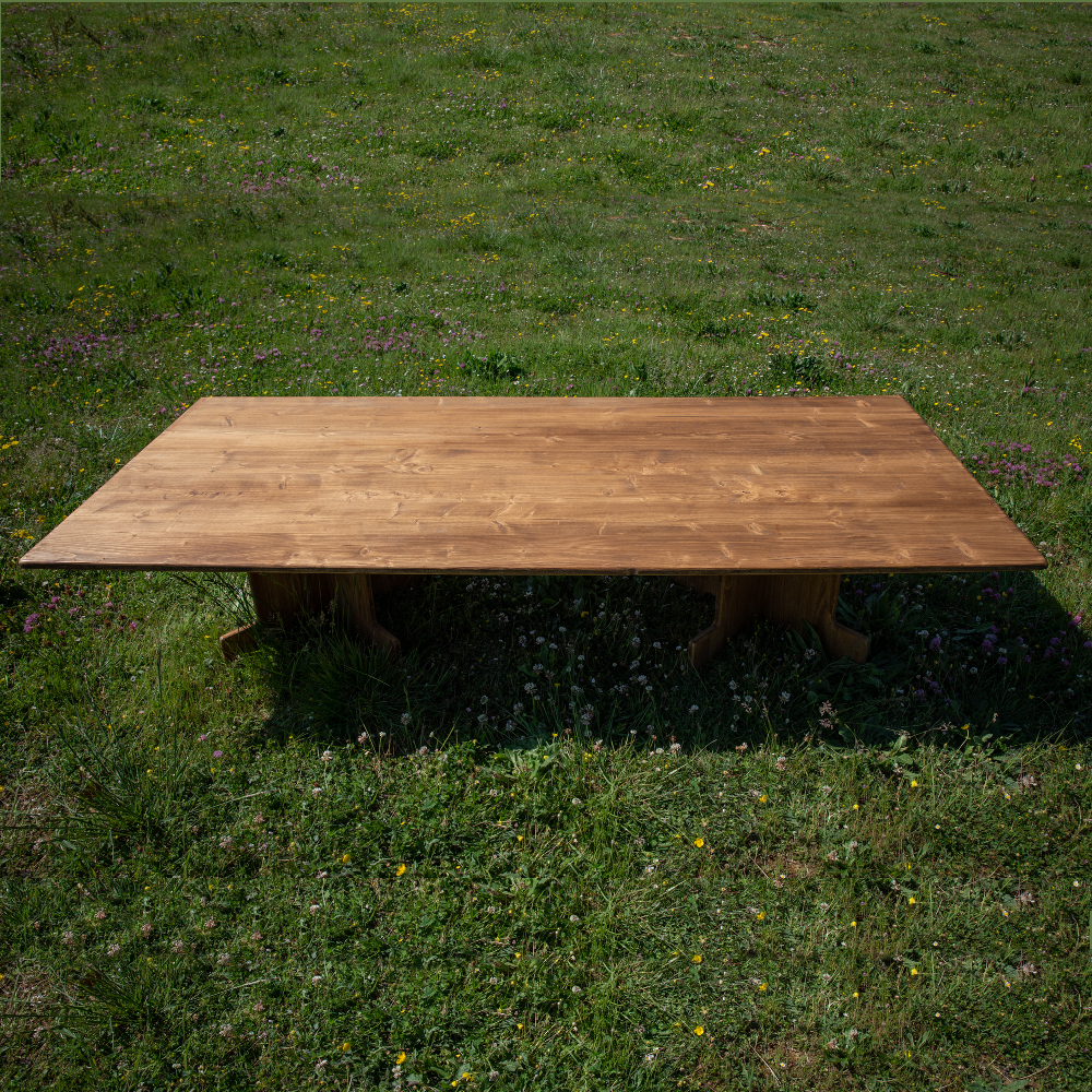 Table basse XXL - Wood Stock Réception - Gers - Sud Ouest