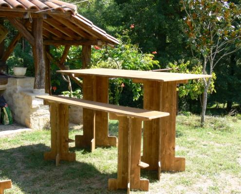 mange-debout XXL en bois - Wood Stock Réception - Gers - Sud Ouest