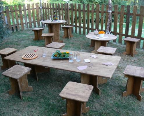 Location mobilier de réception Wood Stock Réception - Gers - Sud Ouest