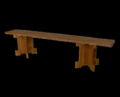 banc bas- location moblier bois - wood stock reception - gers - sud ouest