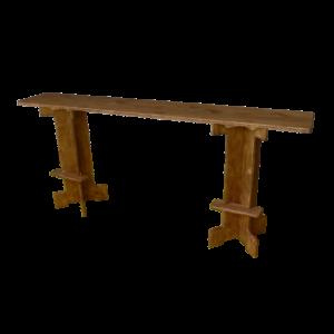banc haut XXL en bois - Wood Stock Réception - Gers - Sud Ouest