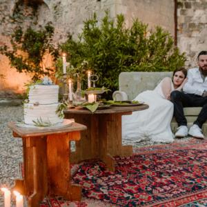 location mobilier en bois mariage champetre boheme- wood stock reception - gers - sud ouest