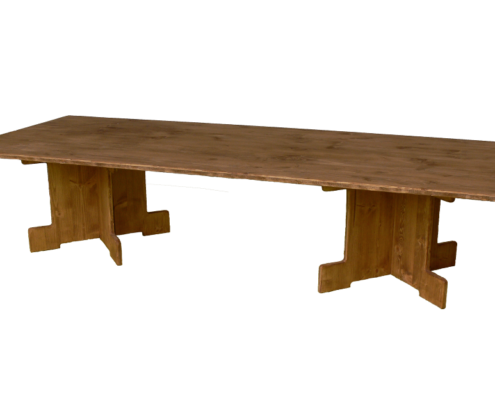 grande table basse-location moblier bois - wood stock reception - gers - sud ouest
