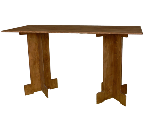 grande table haute_location moblier bois - wood stock reception - gers - sud ouest