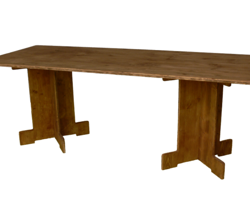 grande table moyenne-location moblier bois - wood stock reception - gers - sud ouest