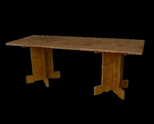 Table de campagne en bois - Wood Stock Réception - Gers - Sud Ouest