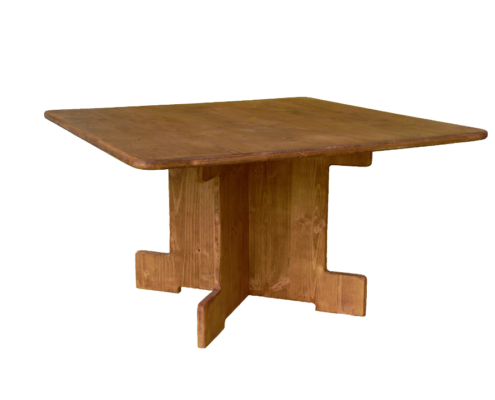 table basse carrée - location moblier bois - wood stock reception - gers - sud ouest