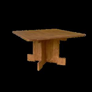 table basse carrée en bois - Wood Stock Réception - Gers - Sud Ouest