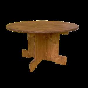 table basse ronde en bois - Wood Stock Réception - Gers - Sud Ouest