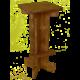 tabouret haut en bois - Wood Stock Réception - Gers - Sud Ouest