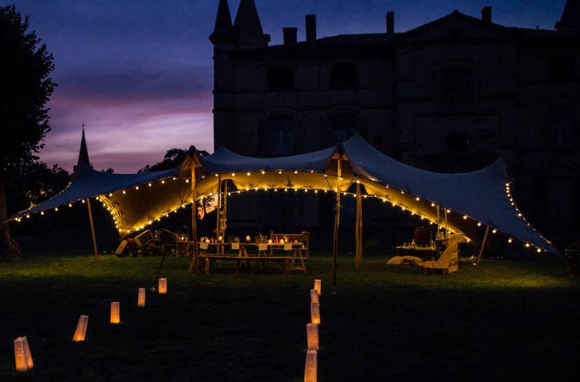 location tente de réception stretch mariage - Wood Stock Réception - Gers - Sud Ouest