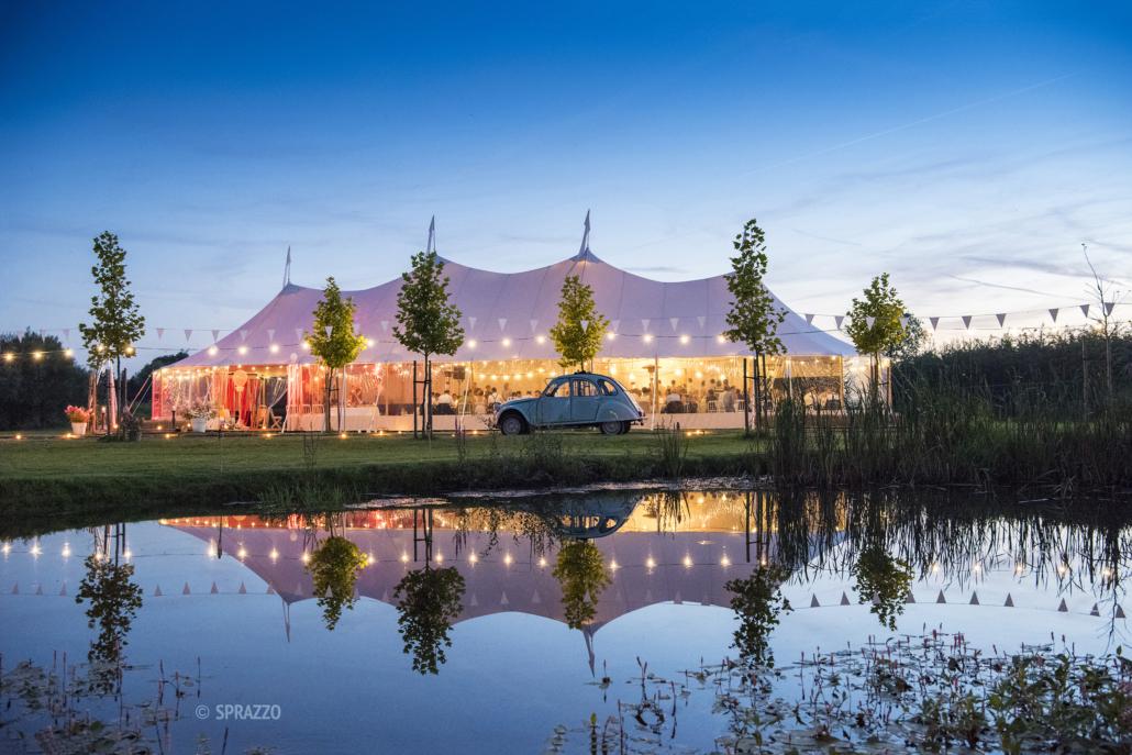 Tente de reception et évènements silhouette - wood stock reception
